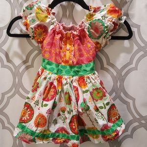 Jelly the Pug Bright Dress 4T